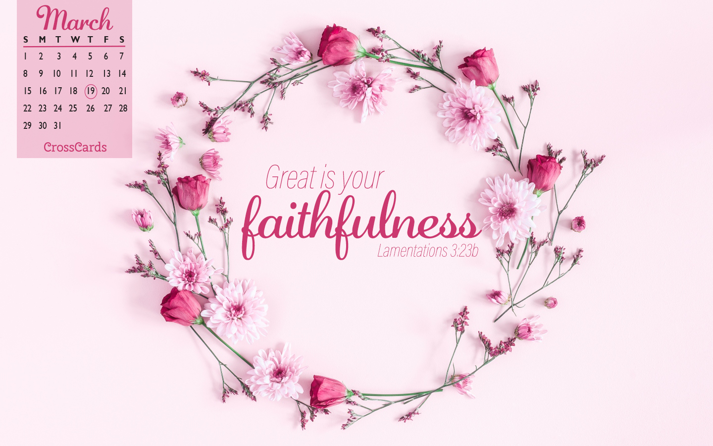 March 2020 - Faithfulness ecard, online card