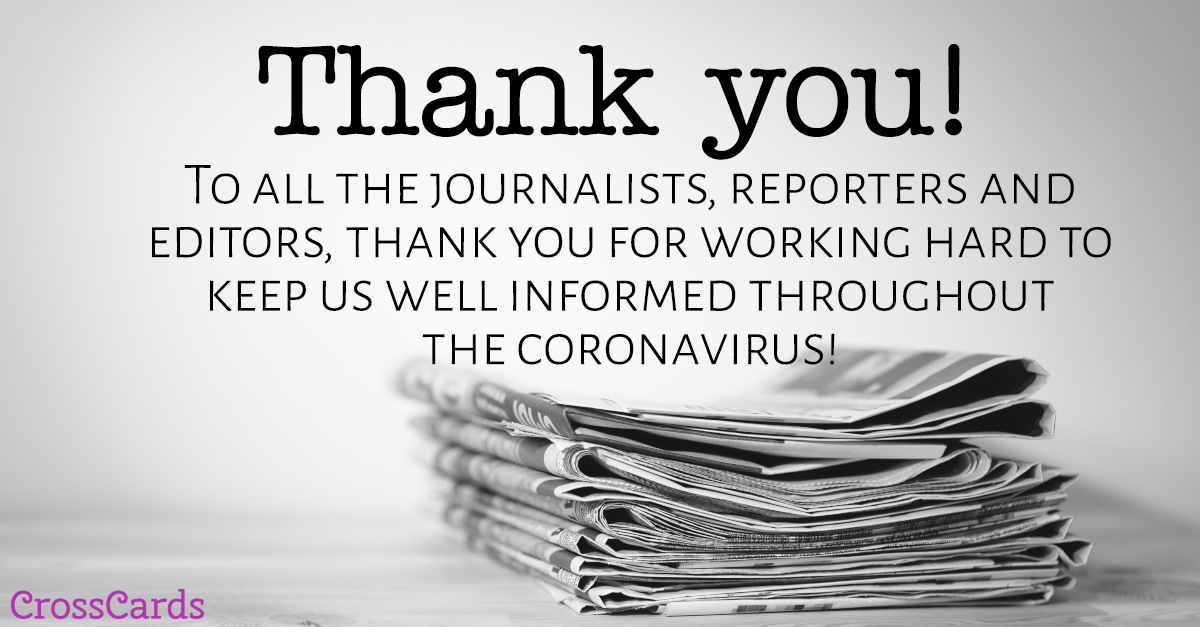 Thank You Journalists! ecard, online card