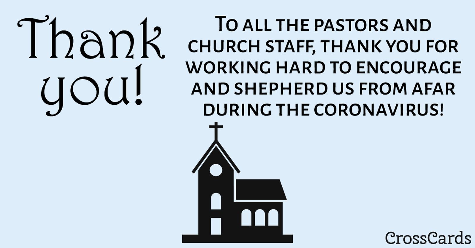 Thank You Pastors! ecard, online card