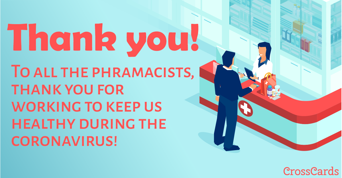 Thank You Pharmacists! ecard, online card