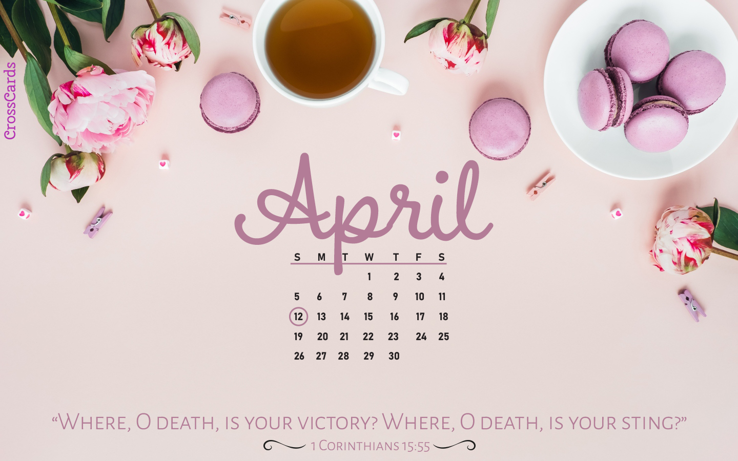 April 2020 1 Corinth 15 Desktop Calendar Free April Wallpaper