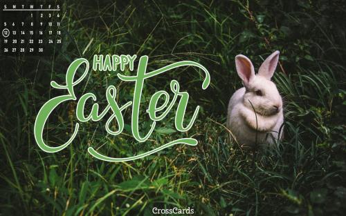 April 2020 - Easter Rabbit mobile phone wallpaper
