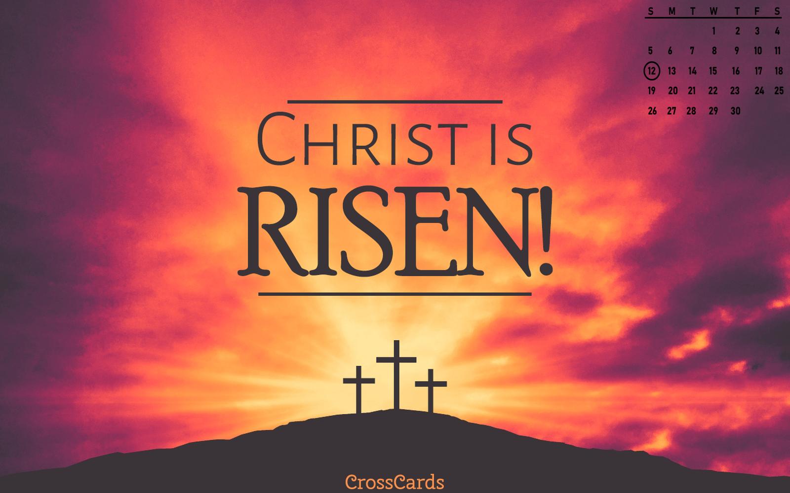 April 2020 - Christ Is Risen! mobile phone wallpaper