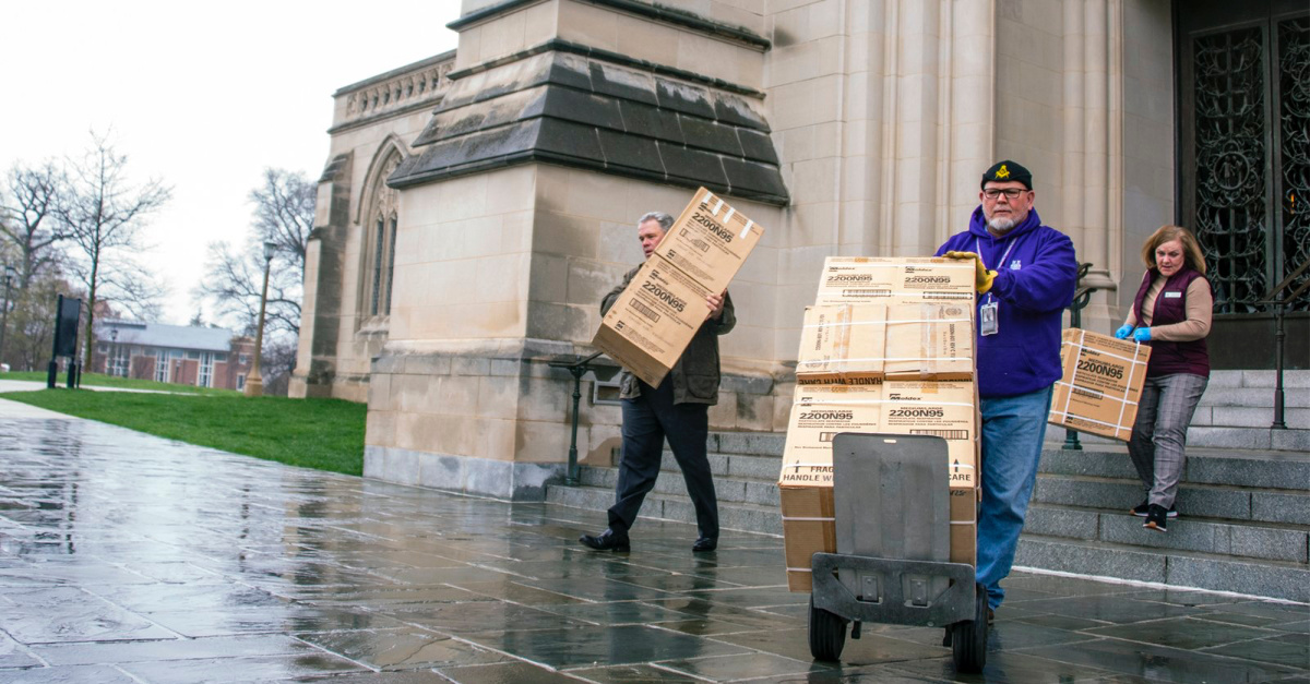 Washington National Cathedral Donates 5,000 Medical Masks Resurrected from Crypts
